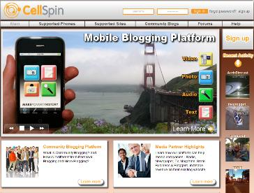 CellSpin.com Homepage