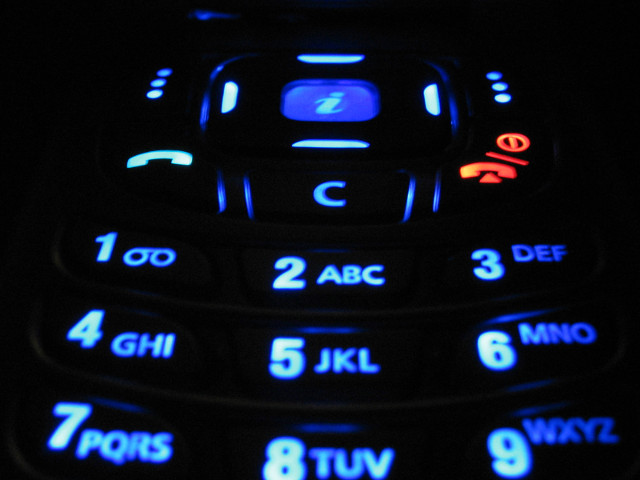 an illuminated cell phone screen