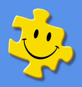 A Happy Face on a Puzzle Piece