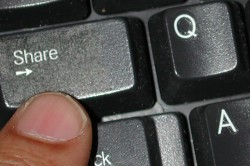 a share key on a keyboard
