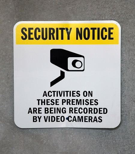 A Security Notice Sign