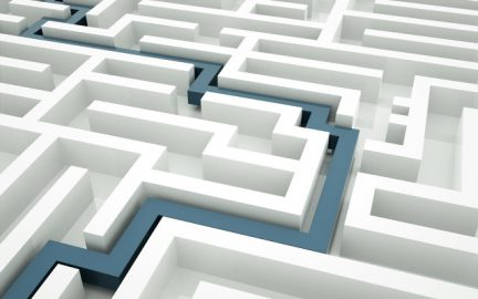 finding your way in a complex maze